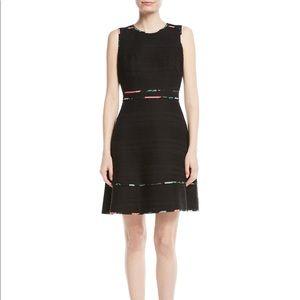 NWT Kate Spade Blossom Trim Black Dress